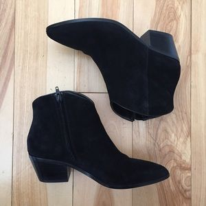 Banana Republic Black Suede Booties
